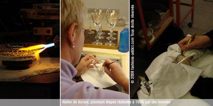 Ateliers Baccarat étape de fabrication